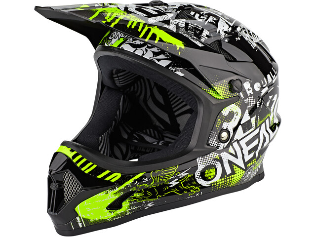 O'Neal Backflip Helm Attack Jongeren, black/neon yellow